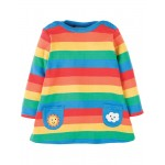 Dress - Frugi - Rainbow Dress/Tunic - 0-3m, 3-6, 6-12, 12-18, And ,2-3, 3-4y - sale