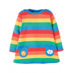 Dress - Frugi - Rainbow Dress/Tunic - SS18 -  DRA810RBS - 0-3m, 3-6, 6-12, 12-18, 18-24, 2-3, 3-4