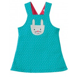 Dress - Frugi - Rio - Reversible Dress -SS18 -  Holibob Bunny -0-3, 3-6, 6-12, 12-18, 3-4y