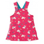 Dress - Frugi - Rio - Reversible Dress -SS18 -  Holibob Bunny -0-3, 3-6, 6-12, 12-18, 3-4y