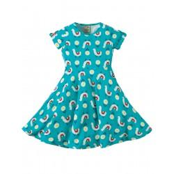 Dress - Frugi - Spring Skater Dress - Llama Leap-  size 2-3, 3-4, 4-5, 5-6, 6-7, 7-8, 8-9y