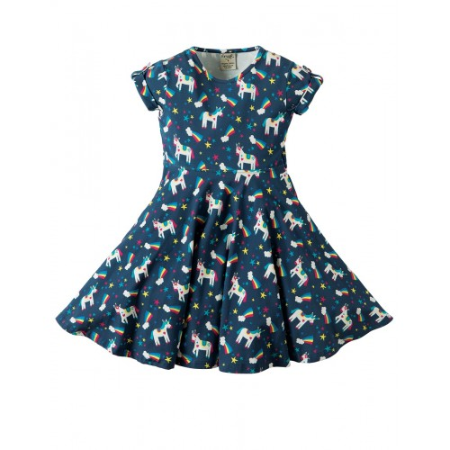 Dress - Frugi Spring Skater Dress - Magic Rainbow - 2-3, 3-4, 4-5, 5-6, 6-7, 7-8, 8-9, 9-10