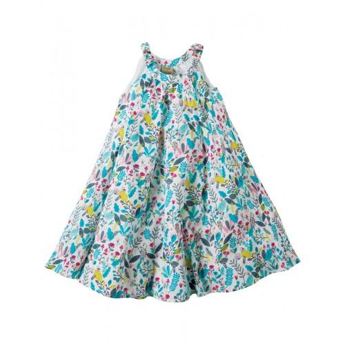 Dress - Frugi - Tabitha Trapeze -  Birdy Paradise - 7-8 8-9.y - sale