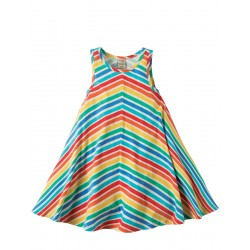 Dress - Frugi Twirly Rainbow Dress - 6-7 - last one in sale