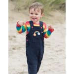 Dungarees - Frugi - Dylan - Navy/Rainbow - 12-18, 18-24, 2-3, 3-4