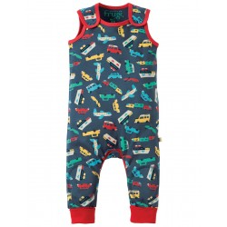 Dungarees - Frugi - Kneepatch Bon Voyage -  3-6, 12-18m and 2-3y