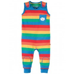 Dungarees - Frugi Kneepatch -Rainbow Stripe  - 12-18 (1x) , 18-24m  (6x) SALE