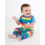 Dungarees - Frugi Kneepatch -Rainbow Stripe  -  18-24m  SALE