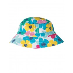 Hat - Frugi - Girls Reversible Sun Hat - SS18 - drop 3- -Spotty Poppy - , 4-6y, 6-8y, (1 x each)