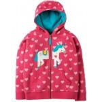 Hoody - Frugi - Heather - Sweet Heart/Unicorn -  8-9 y (2x) -sale