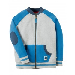 Jacket - Frugi - Issac Raglan Jacket - Grey Marl - 5-6, 6-7, 7-8y