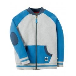 Jacket - Frugi - Issac Raglan Jacket - Grey Marl - 5-6, 6-7, 7-8y - sale