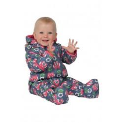 Winter pram suit -  FRUGI - Billie Pram suit - Daisy owl  - 3-6m - last one left in the sale