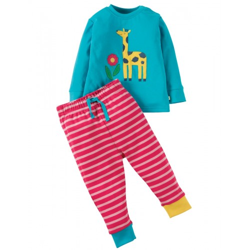 PJ - Frugi - Turquoise/Giraffe - 18-24m and 3-4y - sale