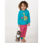 PJ - Frugi - Turquoise/Giraffe - 12-18m 18-24m and 3-4y