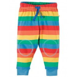 Crawlers - Frugi - Kneepatch Rainbow Stripe -  12-18, 18-24m and 2-3,  3-4y