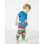 Crawlers - Frugi - Kneepatch Rainbow Stripe -  12-18, (1) 18-24m (2) and 2-3 (2x ) sale