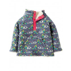 Fleece - Frugi - Elly Elephant Savanna - 6-12, 18-24  - sale