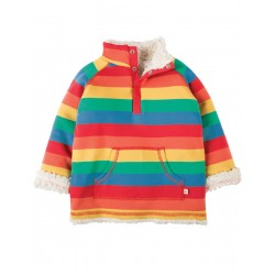 Fleece - Frugi - Rainbow Stripe - 3-4,y  - last one in sale