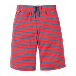 Shorts - Frugi - Scilly Shorts -  Tomato Bold Stripe -2-3, 3-4y - sale
