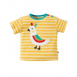 Top - Frugi - Atlantic - Sun Yellow Breton/Bird -3-6, 6-12m - sale