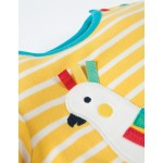 Top - Frugi - Atlantic - SS18 -drop 3 - Sun Yellow Breton/Bird -3-6, 6-12m
