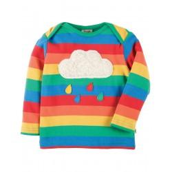 Top - Frugi Bobby - Rainbow/Cloud - SS18- TTS803RCL - 18-24, 2-3, 3-4y