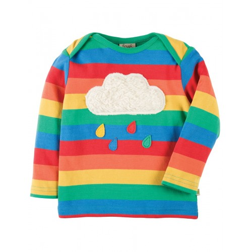 Top - Frugi Bobby - Rainbow/Cloud - SS18- TTS803RCL - 12-18, 18-24, 2-3, 3-4y