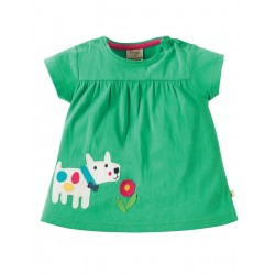 Top - Frugi - SS18 -drop 3 - Eva -  Jungle Green/Dog - 12-18, 18-24
