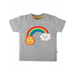 Top - Frugi - Little Creature - Grey Rainbow - 2-3, 3-4y - sale