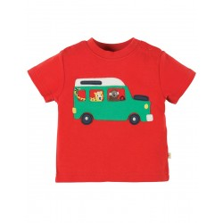 Top - Frugi Little Wheels - red taxi - 6-12, 12-18m and 2-3, 3-4y  sale
