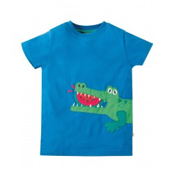 Top - Frugi - James Blue Croc - 2-3, 4-5, 5-6 y - sale