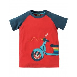 Top - Frugi -Rafe - Tomato/Scooter - 4-5,, 8-9y - sale