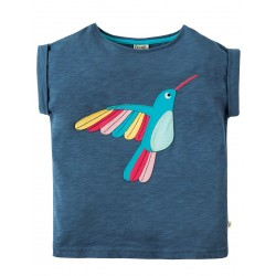 Top - Frugi - Sophia - Navy Bird -  6-7, 7-8