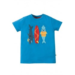 Top - Frugi - Stanley - Sharks - 4-5, - last one in sale