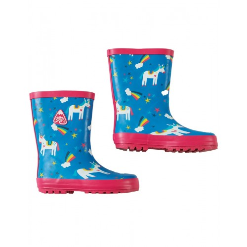 Boots - Frugi - Puddle Buster Wellington Boots - Rainbow Magic Unicorna - shoe UK 4, 5 SALE