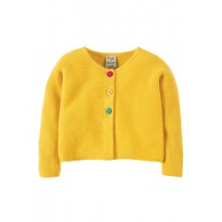 Cardi - Frugi - Milly Cardigan - Sunny Yellow -  3-4, 5-6, 6-7y - sale