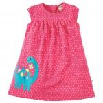 Dress - Frugi - Little Lola - Dinosaur - 12-18 (10x) , 18-24m (3x)  and 2-3 (4x) , 3-4y (3x)  - sale