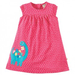 Dress - Frugi - Little Lola - Dinosaur - , 6-12, 12-18, 18-24m and 2-3, 3-4y