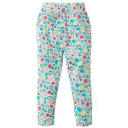 Trousers - Frugi - Gabriella Gathered Trousers - Jamboree Jungle - 3-4, 5-6, 6-7, 8-9y - sale