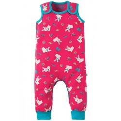 Dungarees - Frugi - Kneepatch Dungaree  - Bunny - 3-6m, 2-3y - SALE