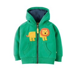 Hoody - Frugi - Hayle Hoody - green lion - 12-18m - 2x left in  sale