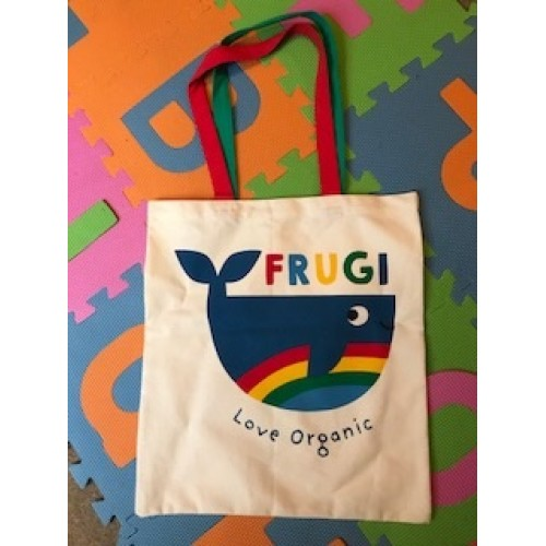 BAG - Frugi - Organic Cotton Tote Bag - Large - Whale