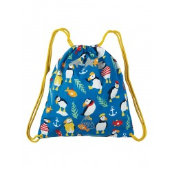 Bag - Frugi - SS19 - drop 2 - Ready Steady Go Bag - Sail Blue Paddling Puffins- new