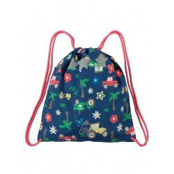 Bag - Frugi - SS19 - drop 2 - Ready Steady Go Bag - Marine Blue Tractors-  new