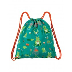 Bag - Frugi - SS19 - drop 2 - Ready Steady Go Bag - Samson Green Frog Pond - new