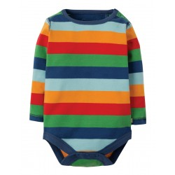 Body - Frugi - SS19 - drop 2 - Lelant - Multi Rainbow Stripe - NB, 0-3m, 3-6, 6-12, 12-18, 18-24, and -2-3y - new