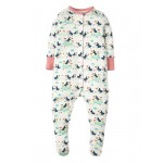 Babygrow - Frugi - ss19 -  Soft White Puffin Parade -  0-3m , 6-12m - sale