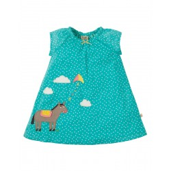 Dress - Frugi - SS19 - Amy Applique Dress - St Agnes Scatter Spot Pony - Independent shops exclusive - 0-3, 3-6, 6-12, 12-18, 18-24m, and 2-3,