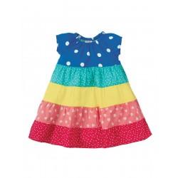 Dress - Frugi  - Dorothy Twirly Dress - Rainbow -  2-3y  - last item - 45% clearance sale